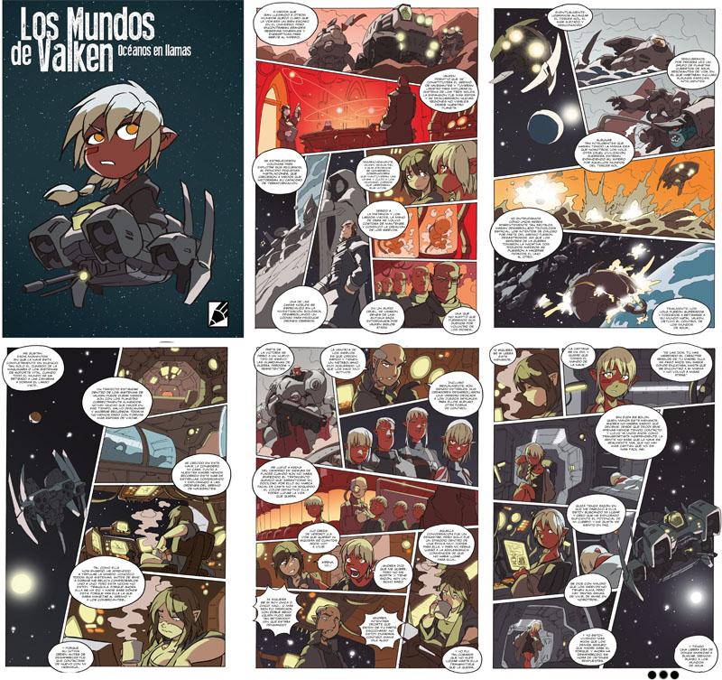 historia extra que regalamos con el comic LOS MUNDOS DE VALKEN del dibujante Nacho Fernandez