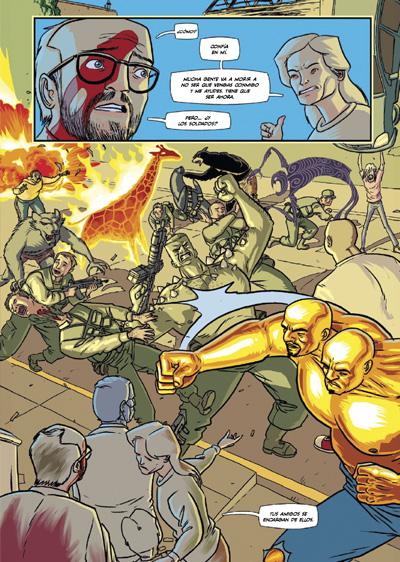 interior del cómic ORDINARY, caos sin fin y superheroes descontrolados