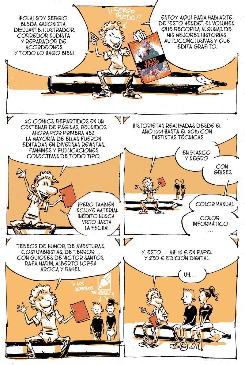 Sergio Bleda nos presenta su cómic ESTO VENDE publicado por Grafito Editorial