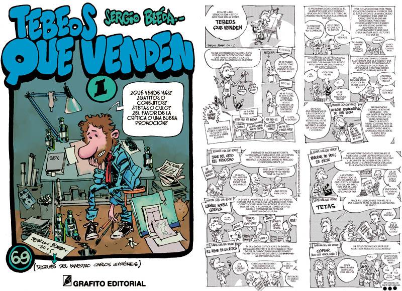 TEBEOS QUE VENDEN es el cómic que se regala con tu ejemplar de ESTO VENDE, el recopilatorio de Sergio Bleda para Grafito Editorial