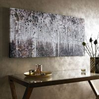 Neutral Watercolour Woods Printed Canvas Wall Art ...