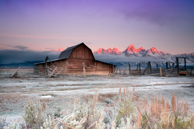 Canon 6D Grand Teton National Park Sunrise with B+W Circular Polarizer 77mm Canon 6D Review