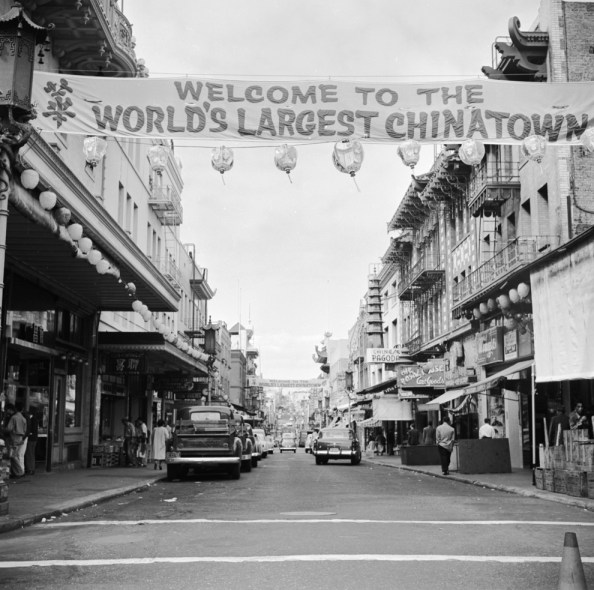 San Francisco Chinatown Black and White 1950