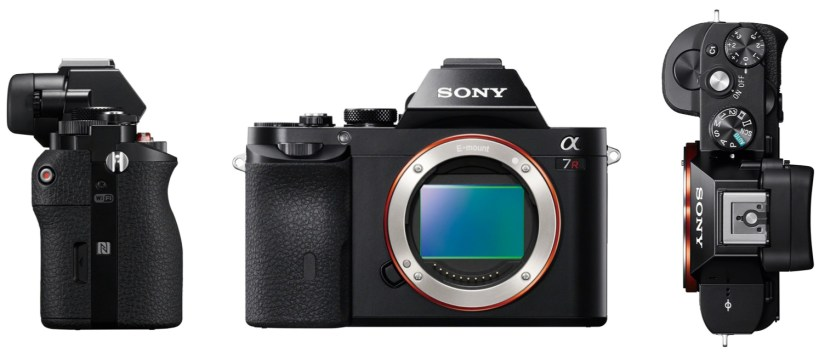 Sony A7R Design and Durability top front and side view