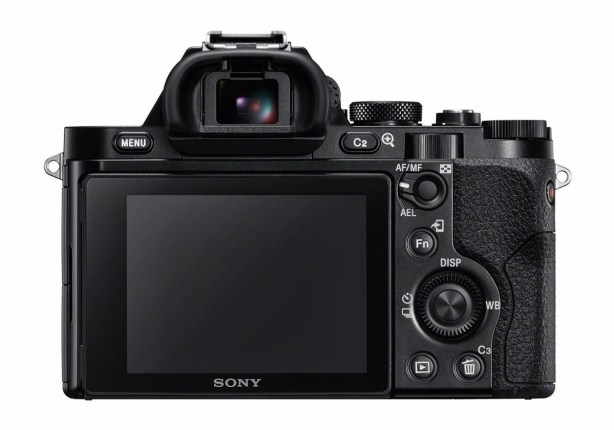Sony A7R rear controls backside backpanel