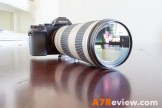 Sony A7R with Metabones EF Adapter and Canon 70-200mm L IS front