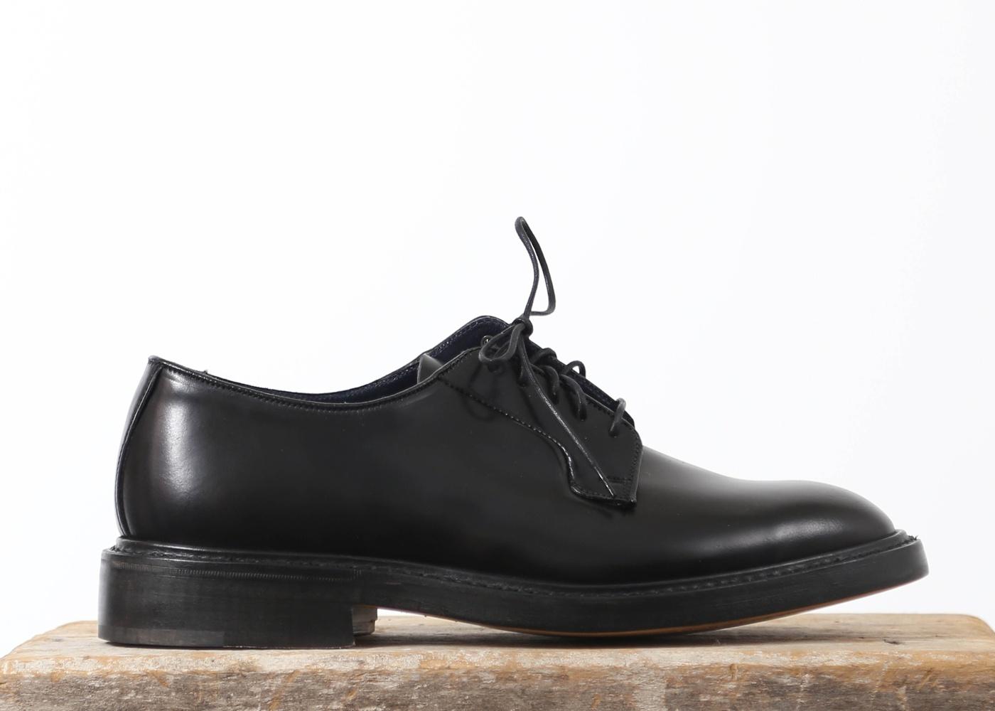 Men39s Navy Cordovan Derby Shoes Grahame Fowler Original