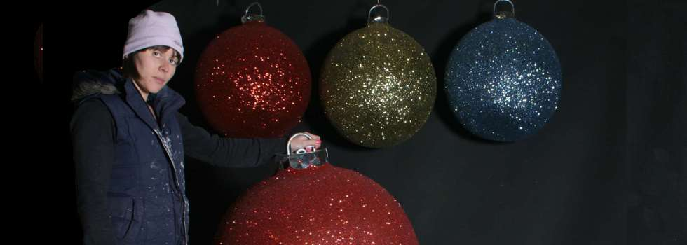 Christmas Display Baubles, Giant - medium and small - Manufactured - large christmas decorations