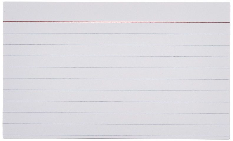 Basics Ruled Index Cards - 5x8 Inches (1 Packs of 100)