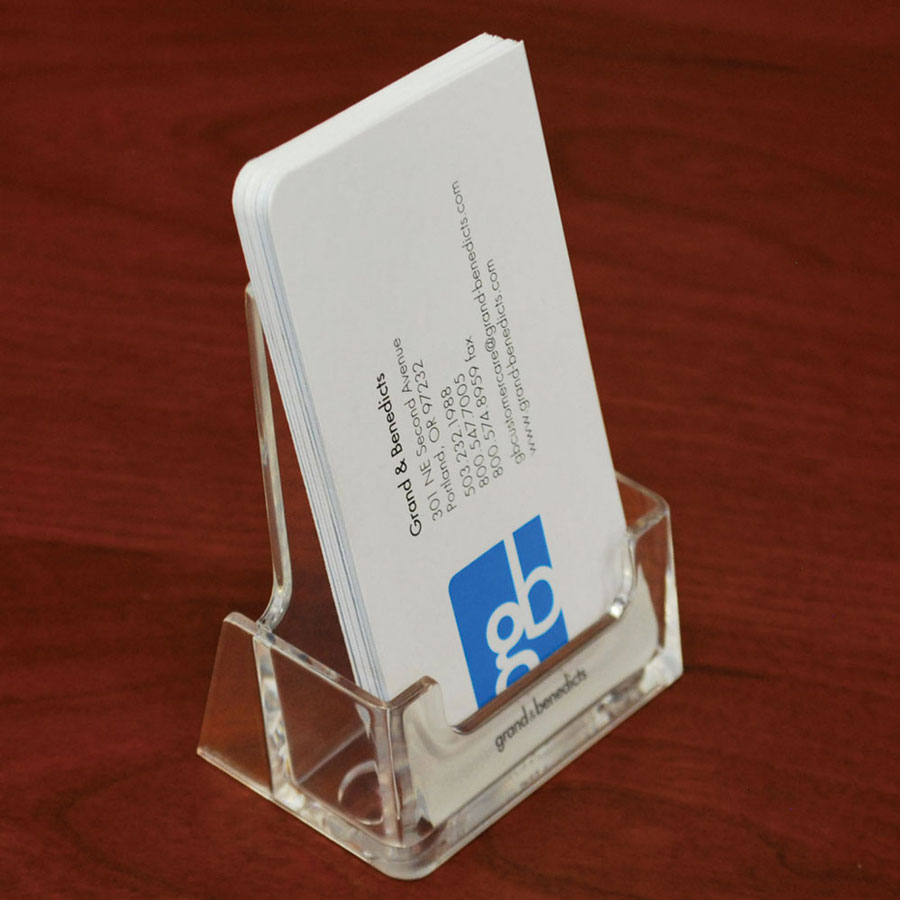 Acrylic Countertop Business Card Holder Vertical/Portrait Retail