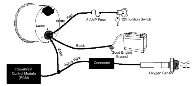 wiring diagram autometer volt gauge