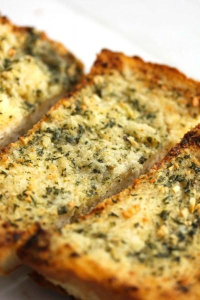 Easy Homemade Garlic Bread - Grandbaby Cakes