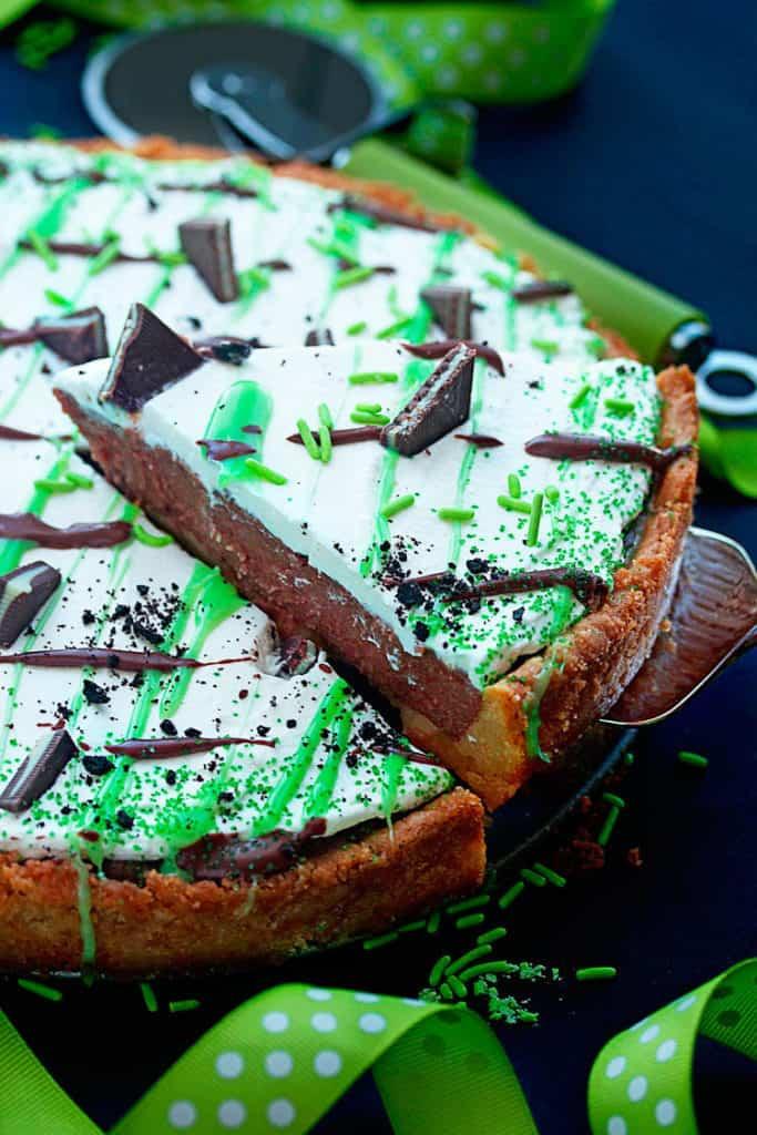 St Patrick's Day Dessert Pizza