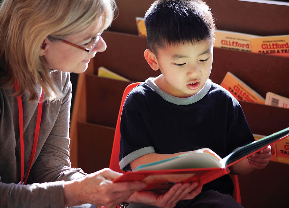 Assistance League Volunteer Tutoring Young Reader