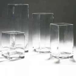 Endearing Tall Square Glass X X Tall Square Glass X X Event Rentals Square Glass Vases 5 Square Glass Vases