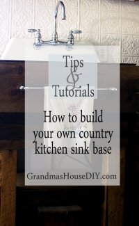 How to: Build your own kitchen sink base! Do it yourself ...