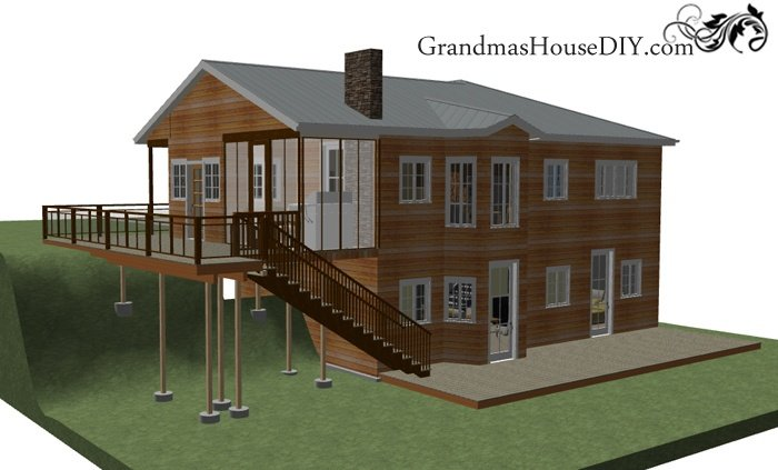 Free house plan two story with a walk out basement for 2 story basement house plans