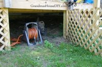 Creating a cubby under our deck for hidden outdoor ...