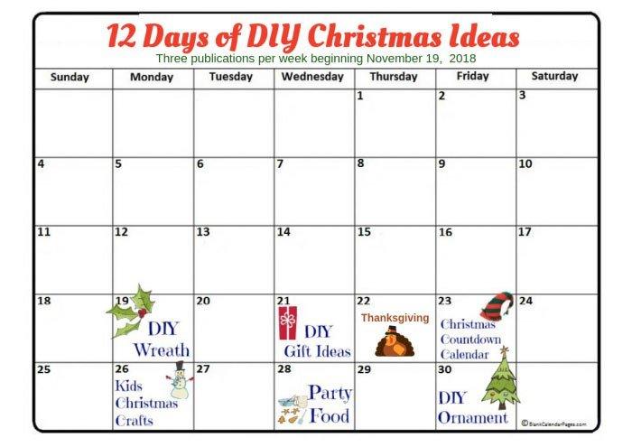 12 Days of Christmas Blog Hop - 50 Best DIY Holiday Ideas