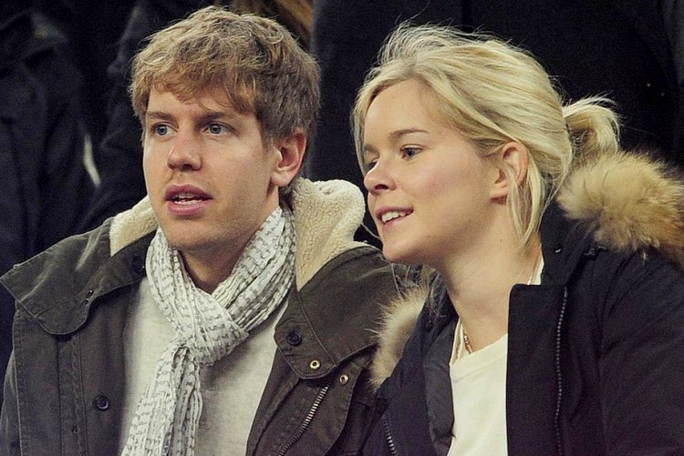 Sebastian Vettel with beautiful, Wife Hanna Prater