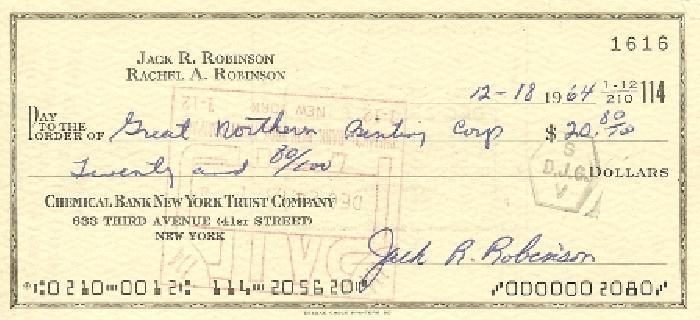 Jackie Robinson Check