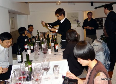 Judges check out the bottles...
