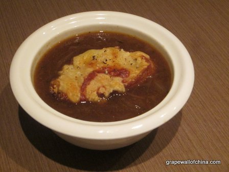 Given the weather, the French onion soup proved to be a popular starter with the judges.