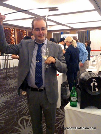 alejandro benitez ruiz venenciador gonzalez byass with croft at wine enthusiast hilton beijing