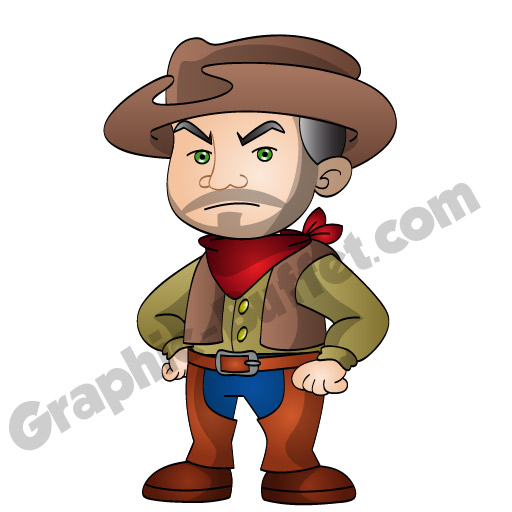 Animated Game Characters Cowboy Western Assets from Graphic Buffet
