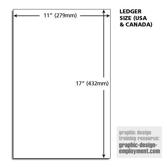 Ledger Paper Dimensions