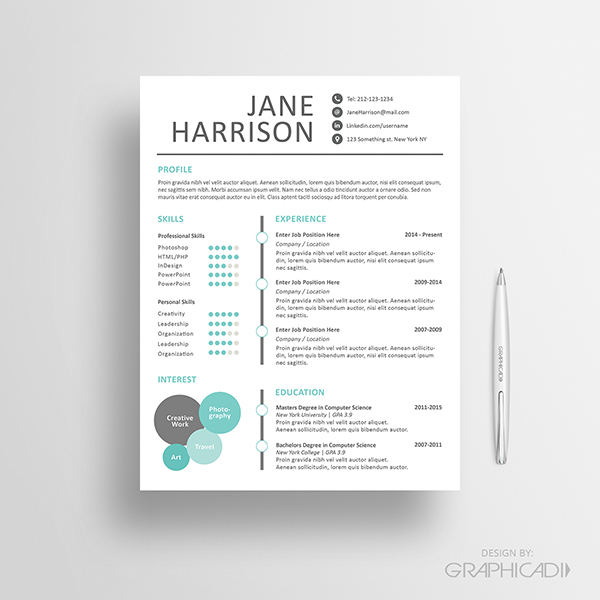 resume template ats ats applicant tracking system resume template 10 best etsy resume templates graphicadi