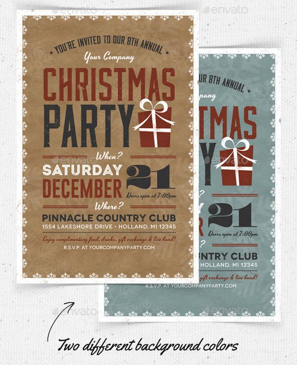 Top 15 Christmas Templates for This Christmas - Graphicadi - flyer invitation templates free
