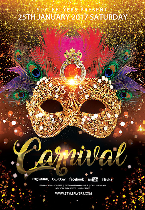15 Free and Premium Carnival Flyers - Carnival Party Flyers for