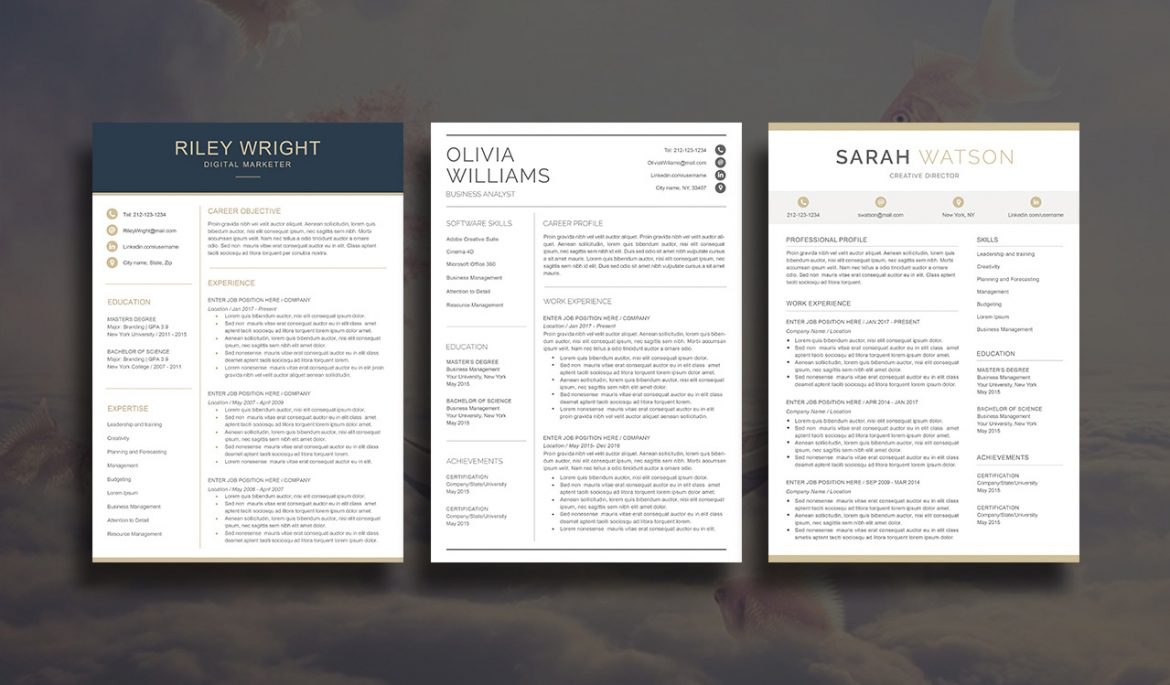 etsy indesign resume templates