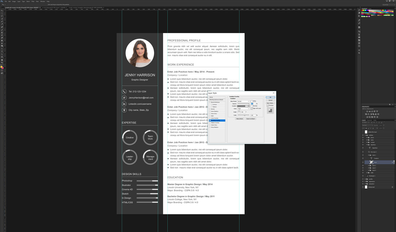photoshop template of resume