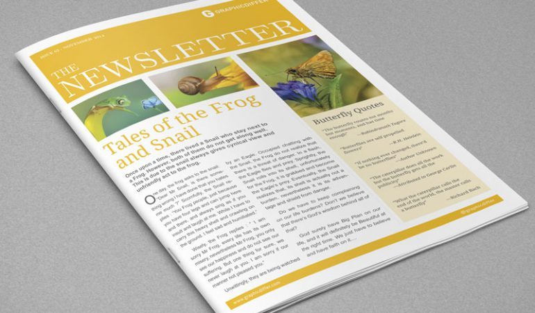 Adobe Indesign Newspaper Templates Free Costumepartyrun