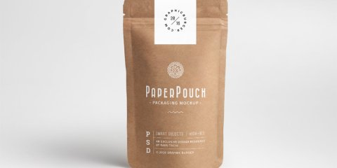 Graphic Ghost - Paper Pouch Packaging Mockup