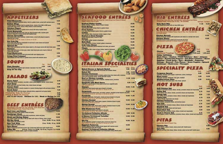 Take Out Menu Design Services, Restaurant Menu Design Services For