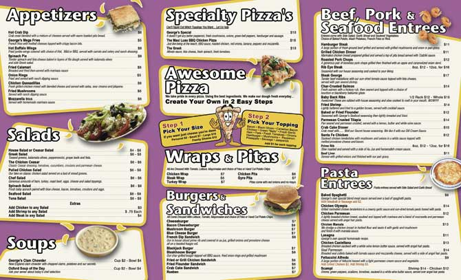Restaurant Menu Printing Services - Creative Menu Design Services