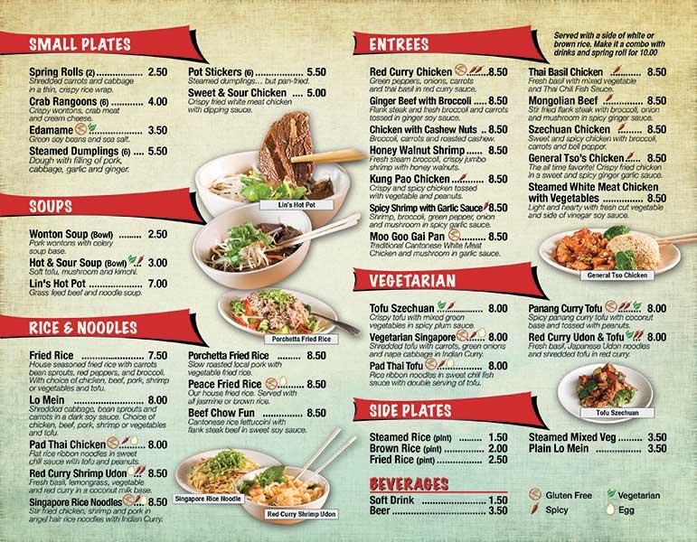 Restaurant Menu Printing Services - Creative Menu Design Services - restaurant to go menu