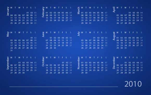 Amazing Calendar Photoshop Tutorials Just in Time for 2012 - create a picture calender