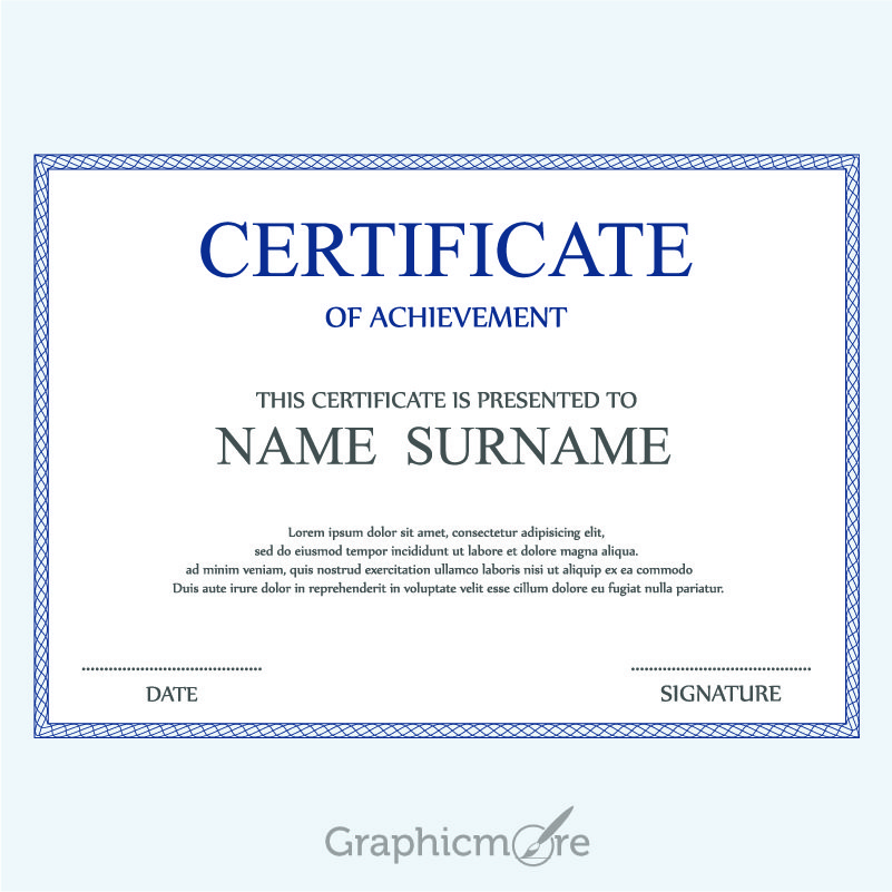 Corporate Certificate Template Design Free Vector File