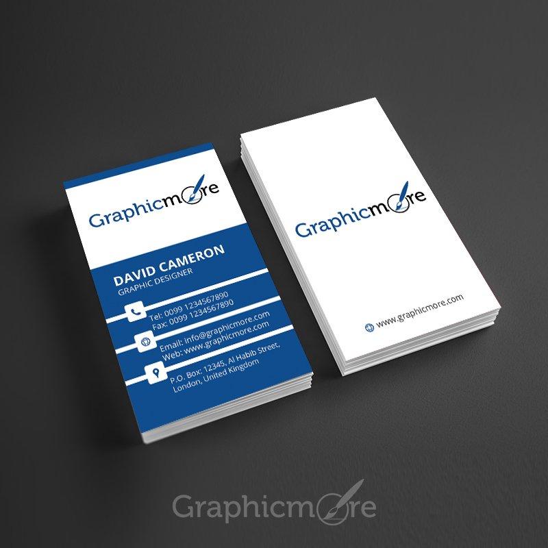 Corporate Vertical Business Card Template Design Free PSD File