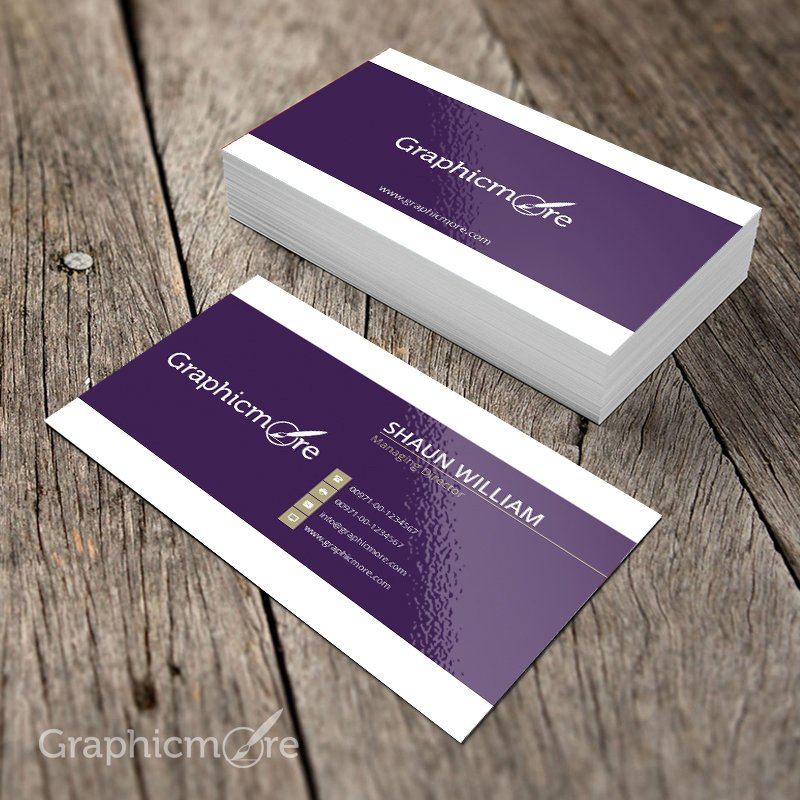 Purple Creative Business Card Template  Mockup Design Free PSD File