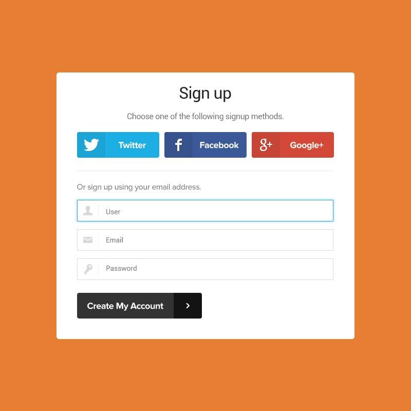 Signup Form Mockup Template Design Free PSD Download