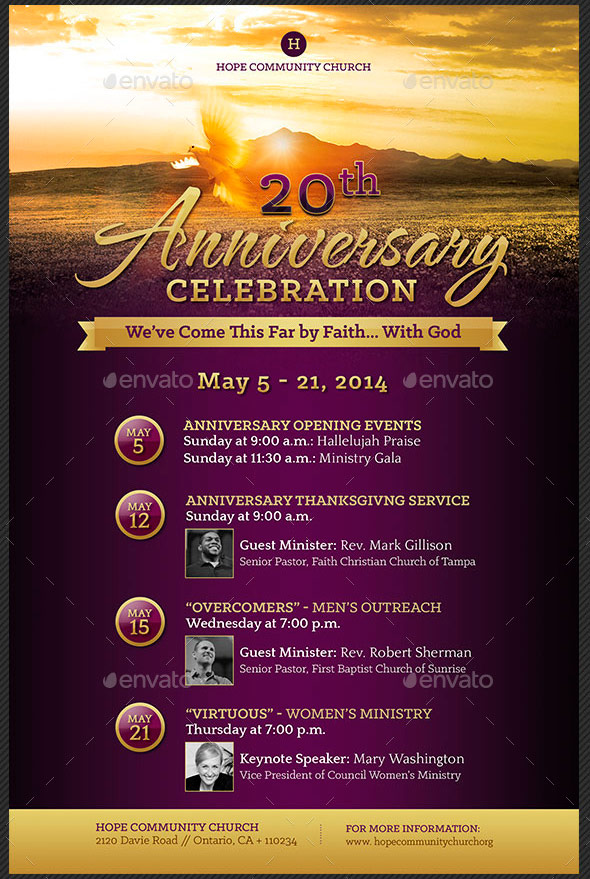 The gallery for gt church anniversary celebration flyer