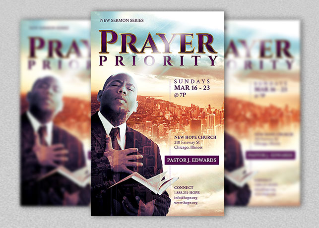 prayer priority flyer and poster template