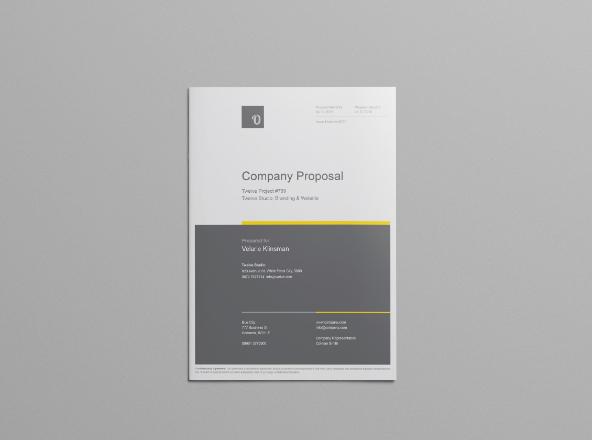 Company Proposal Template - company proposal template