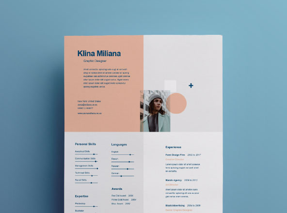 graphic pear cv template