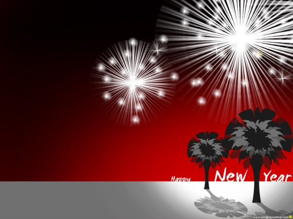 New Year Greeting Card. 1024 x 768.Funny Picture Of Happy New Year
